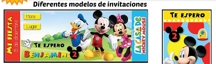 Kit Imprimible La Casa Mickey Mouse Invitaciones, suvenires.